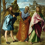 Altobello Melone – The Road to Emmaus, Part 1 National Gallery UK