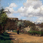 Camille Pissarro – View from Louveciennes, Part 1 National Gallery UK