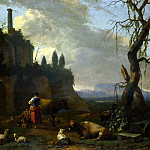Abraham Begeijn – Peasants with Cattle by a Ruin, Part 1 National Gallery UK