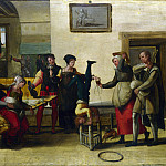 Part 1 National Gallery UK - After The Brunswick Monogrammist - Itinerant Entertainers in a Brothel