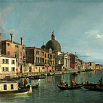 Canaletto – Venice – The Grand Canal with S. Simeone Piccolo, Part 1 National Gallery UK