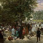 Afternoon in the Tuileries Gardens, Adolph von Menzel