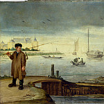 Arent Arentsz. – Fishermen near Muiden Castle, Part 1 National Gallery UK