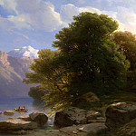 Alexandre Calame – The Lake of Thun, Part 1 National Gallery UK