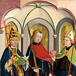 Circle of Master of Liesborn – Saints Gregory, Maurice and Augustine, Part 1 National Gallery UK