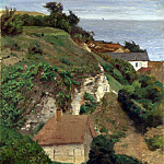 Part 1 National Gallery UK - Antoine Chintreuil - House on the cliffs near Fecamp