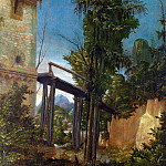 Landscape with a Footbridge, Albrecht Altdorfer