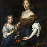 Caspar Netscher – Portrait of a Lady and a Girl, Part 1 National Gallery UK