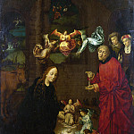 After Hugo van der Goes – The Nativity, at Night, Part 1 National Gallery UK
