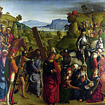 Part 1 National Gallery UK - Boccaccio Boccaccino - Christ carrying the Cross and the Virgin Mary Swooning