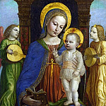 Part 1 National Gallery UK - Bernardino Bergognone - The Virgin and Child with Two Angels