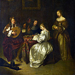 Part 1 National Gallery UK - After Caspar Netscher - A Musical Party
