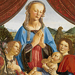 Part 1 National Gallery UK - Andrea del Verrocchio and assistant (Lorenzo di Credi) - The Virgin and Child with Two Angels