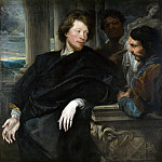 Anthony van Dyck – Portrait of George Gage with Two Attendants, Part 1 National Gallery UK