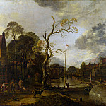 Part 1 National Gallery UK - Aert van der Neer - A View along a River near a Village at Evening