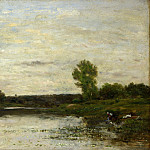 Part 1 National Gallery UK - Charles-Francois Daubigny - View on the Oise