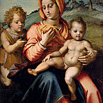 Sarto Andrea Del Madonna And Child With The Infant Saint John In A Landscape, Andrea del Sarto