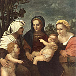 Madonna and Child with Sts Catherine Elisabeth and John the Baptist WGA, Andrea del Sarto