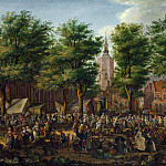Paulus Constantijn La Fargue – The Grote Markt at The Hague, Part 5 National Gallery UK