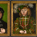 Lucas Cranach the Elder – Diptych – Two Electors of Saxony, Part 5 National Gallery UK