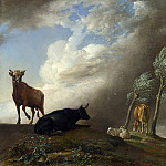 Paulus Potter – Cattle and Sheep in a Stormy Landscape, Part 5 National Gallery UK