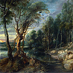Peter Paul Rubens – A Shepherd with his Flock in a Woody Landscape, Part 5 National Gallery UK