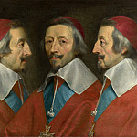 Philippe de Champaigne and studio – Triple Portrait of Cardinal de Richelieu, Part 5 National Gallery UK