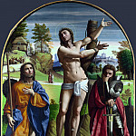 Ortolano – Saints Sebastian, Roch and Demetrius, Part 5 National Gallery UK