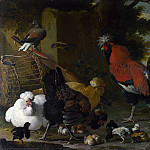 Melchior dHondecoeter – A Cock, Hens and Chicks, Part 5 National Gallery UK