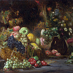 Pierre Andrieu – Still Life with Fruit and Flowers, Part 5 National Gallery UK