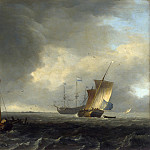 Ludolf Bakhuizen – A View across a River near Dordrecht, Part 5 National Gallery UK