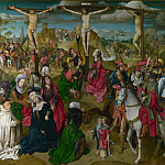 Master of Delft – The Crucifixion – Central Panel, Part 5 National Gallery UK