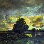 Narcisse Virgilio Diaz de la Pena – Common with Stormy Sunset, Part 5 National Gallery UK