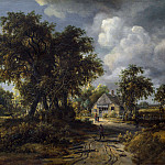 Meindert Hobbema – A Woody Landscape, Part 5 National Gallery UK
