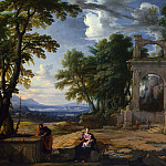 Pierre Patel – Landscape with the Rest on the Flight into Egypt, Part 5 National Gallery UK