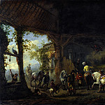 Philips Wouwermans – The Interior of a Stable, Part 5 National Gallery UK