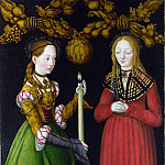 Lucas Cranach the Elder – Saints Genevieve and Apollonia, Part 5 National Gallery UK
