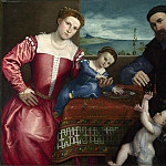 Lorenzo Lotto – Portrait of Giovanni della Volta with his Wife and Children, Part 5 National Gallery UK