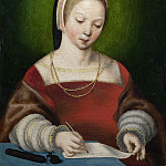Netherlandish – A Girl Writing, Part 5 National Gallery UK