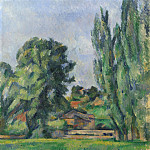 Landscape with Poplars, Paul Cezanne