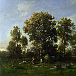 Narcisse Virgilio Diaz de la Pena – Sunny Days in the Forest, Part 5 National Gallery UK
