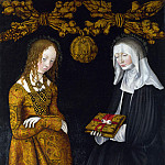 Part 5 National Gallery UK - Lucas Cranach the Elder - Saints Christina and Ottilia