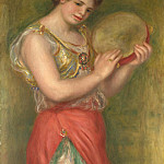 Dancing Girl with Tambourine, Pierre-Auguste Renoir