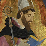 Marco Zoppo – A Bishop Saint, perhaps Saint Augustine, Part 5 National Gallery UK