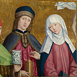 Master of Liesborn – Saints Cosmas and Damian and the Virgin, Part 5 National Gallery UK