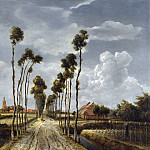 Meindert Hobbema – The Avenue at Middelharnis, Part 5 National Gallery UK