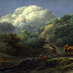 Nicolaes Berchem – A Man and a Youth ploughing with Oxen, Part 5 National Gallery UK