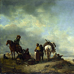 Philips Wouwermans – Seashore with Fishwives offering Fish, Part 5 National Gallery UK