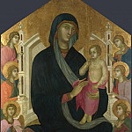 Master of the Casole Fresco – The Virgin and Child with Six Angels, Part 5 National Gallery UK