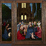 Netherlandish – The Virgin and Child with Saints and Angels in a Garden, Part 5 National Gallery UK